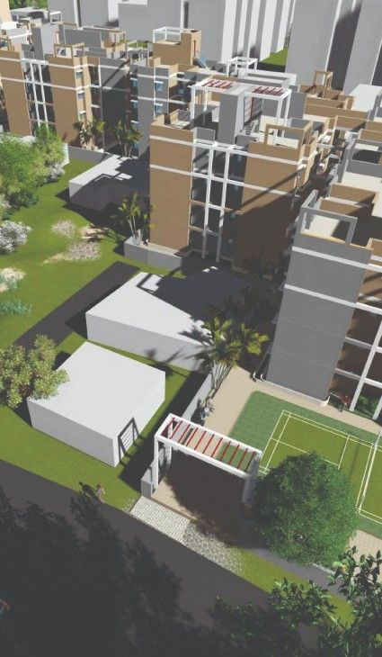The top view of Squarewood Utsab Apartments