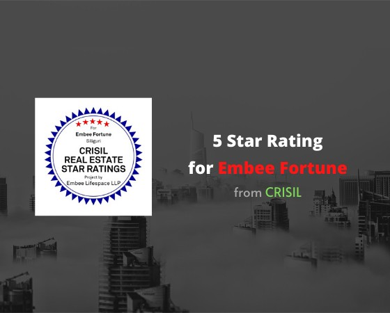 5 Start Rating for Embee Fortune from CRISIL