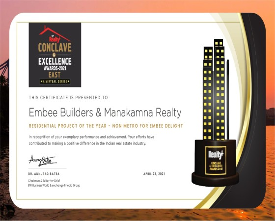 Luxurious Project Award for Darpan 88° from Realty+